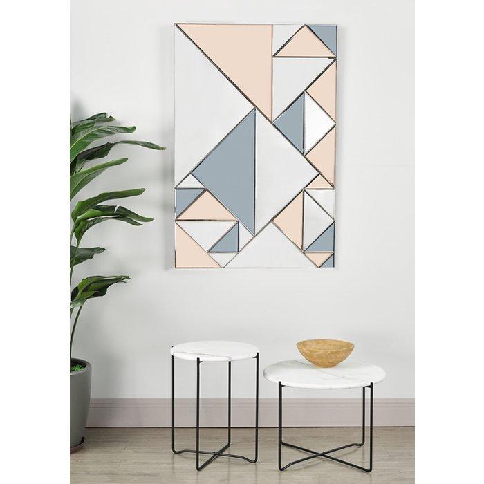 Hera - Smoked & Rose Gold Rectangular Mirror