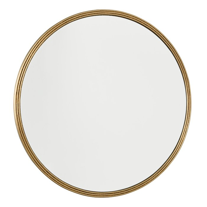 Briton - Beaded Edge Round Gold Mirror