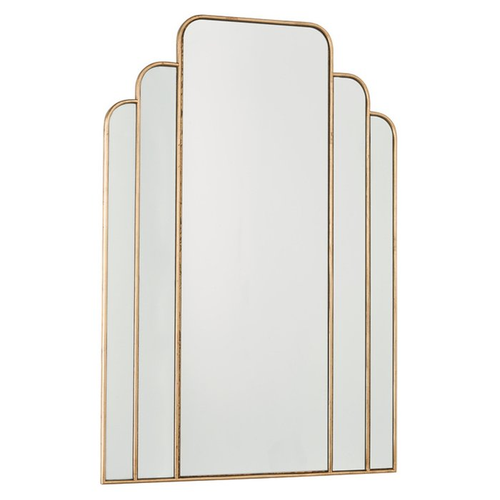 Calais - Modern Art Deco Gold Mirror