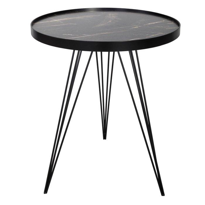 Titan - Mid Century Dark Grey Stone Side Table