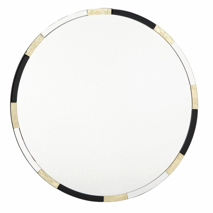 Galdot - Large Round Gold & Black Mirror