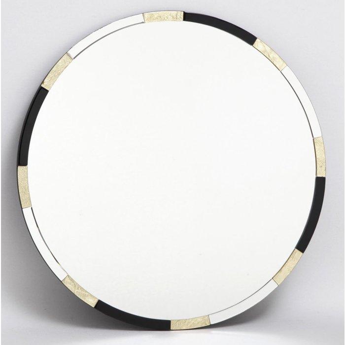 Galdot - Large Round Gold & Black Mirror