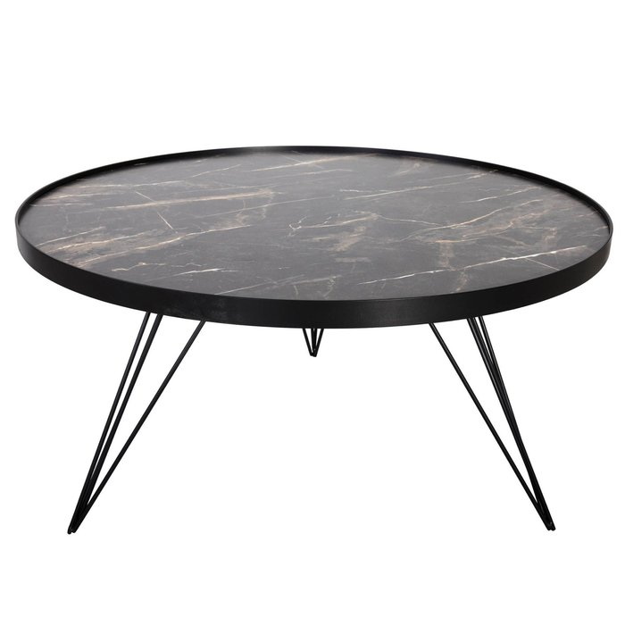 Titan - Mid Century Dark Grey Stone Coffee Table