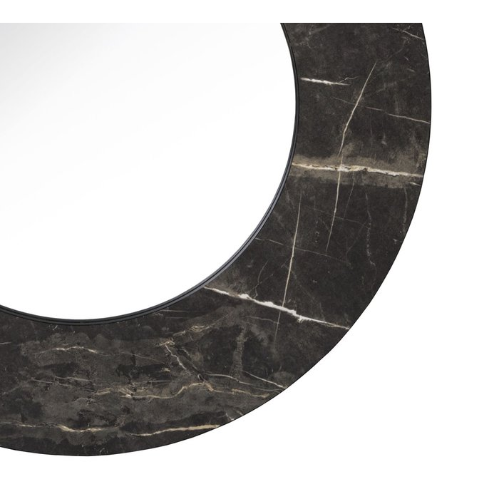 Cuban - Dark Marble Effect Large Round Mirror
