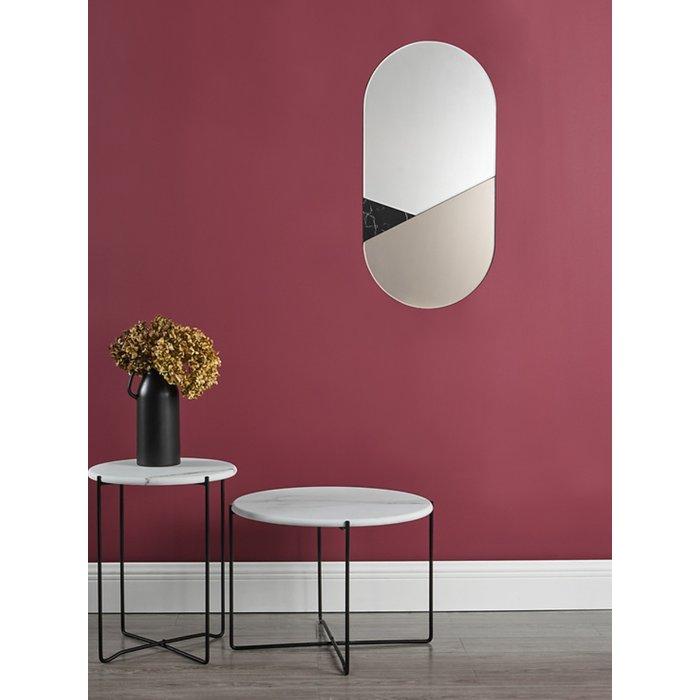 Athena - Round Rolled Edge Coffee Table - White Marble