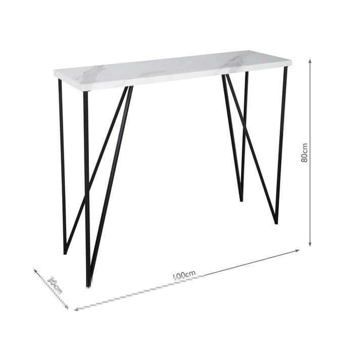 Adonia - White Marble Console Table