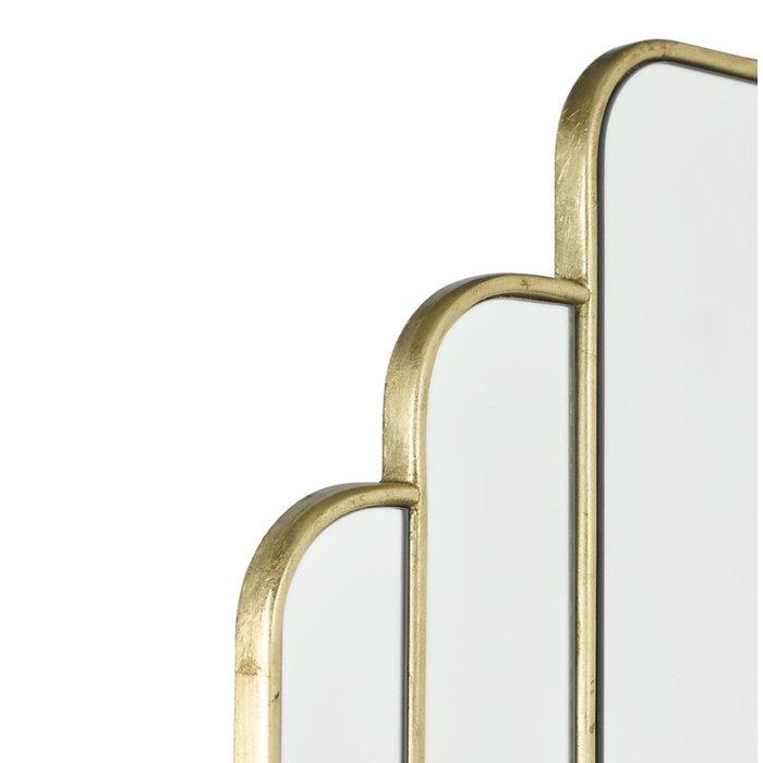 Calais - Modern Art Deco Gold Mirror