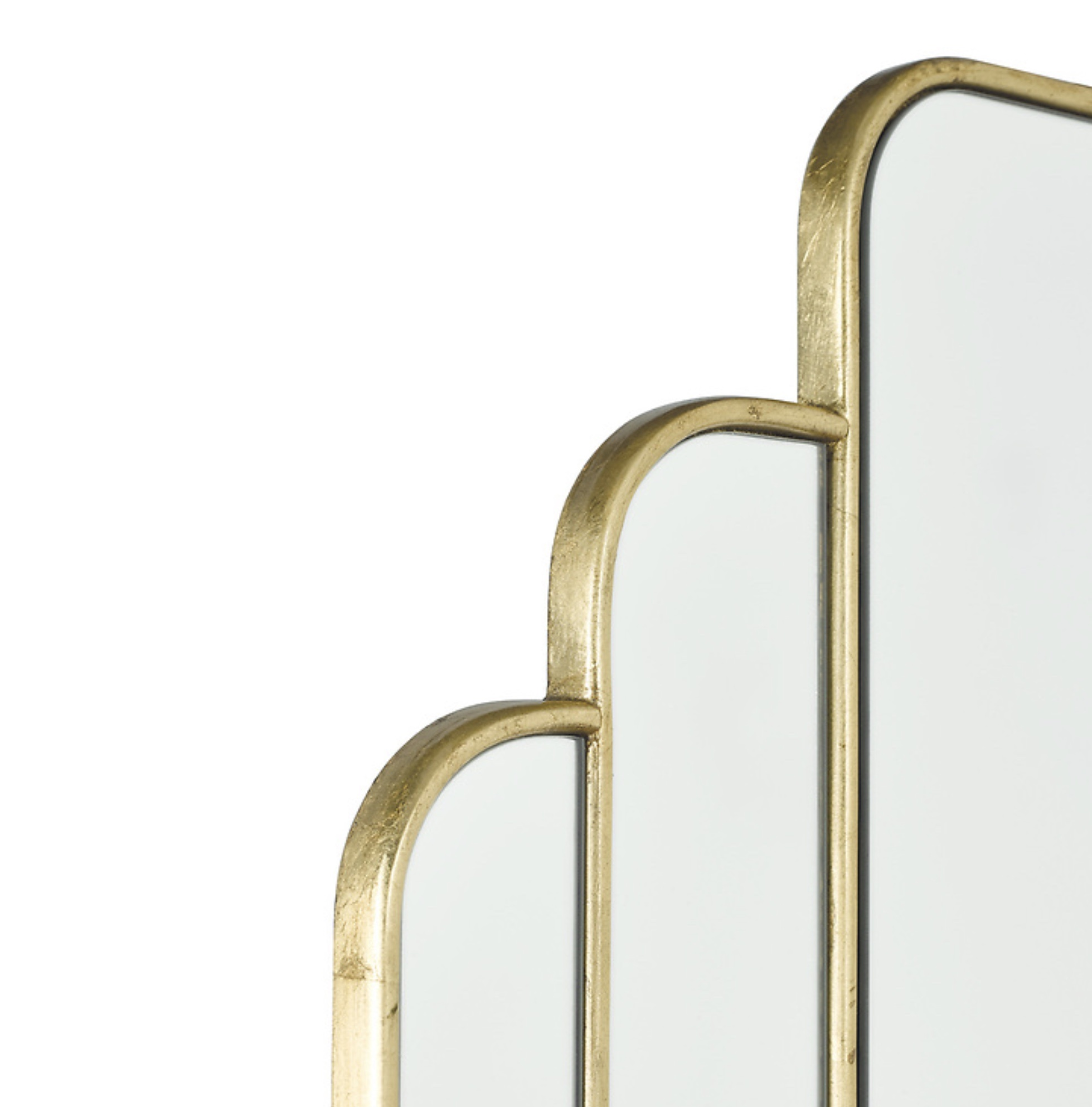 Calais Modern Art Deco Gold Mirror Lightbox