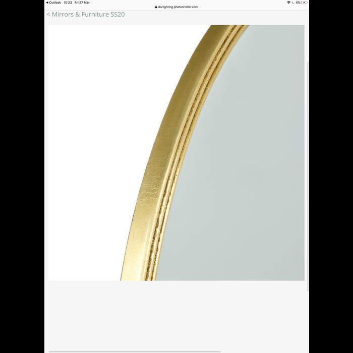 Briton - Beaded Edge Round Gold Mirror