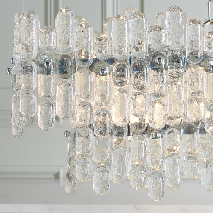 Jove - Melting Ice Crystal Grand Linear Chandelier