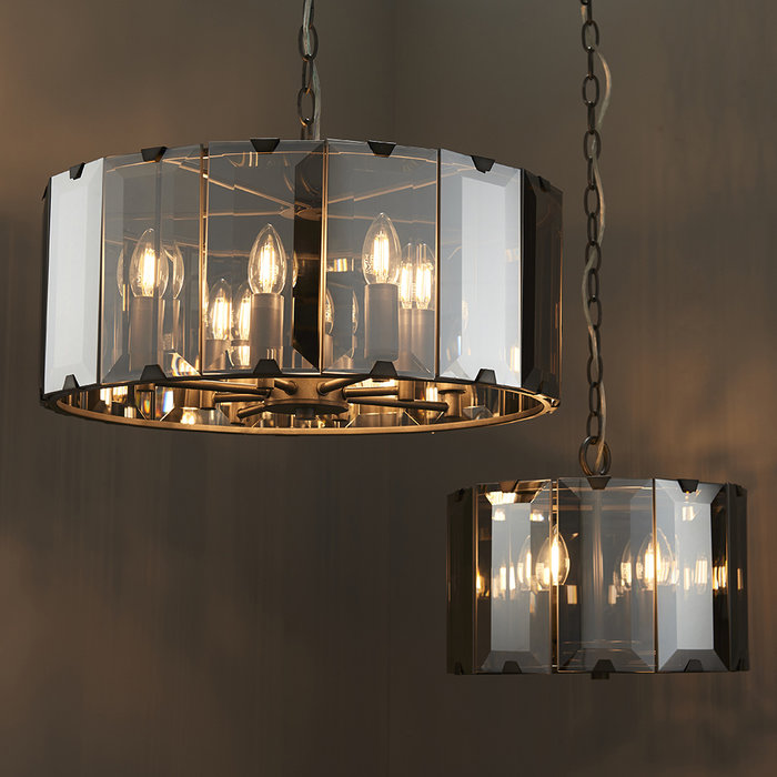 Bevel - Smoked Glass Grey Feature Light
