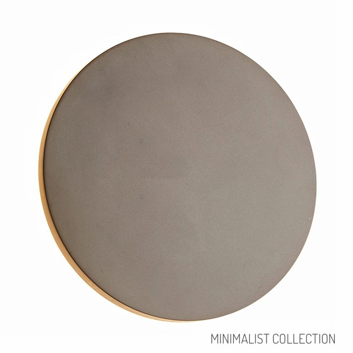 Noe - Minimalist Concrete Disc Wall Light - Large