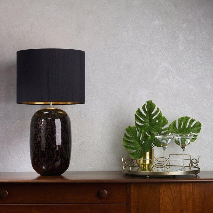 Pura Black Mirrored Table Lamp