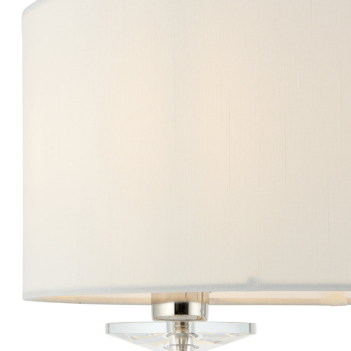Frost - Modern Chandlier Table Lamp - Polished Chrome & Crystal
