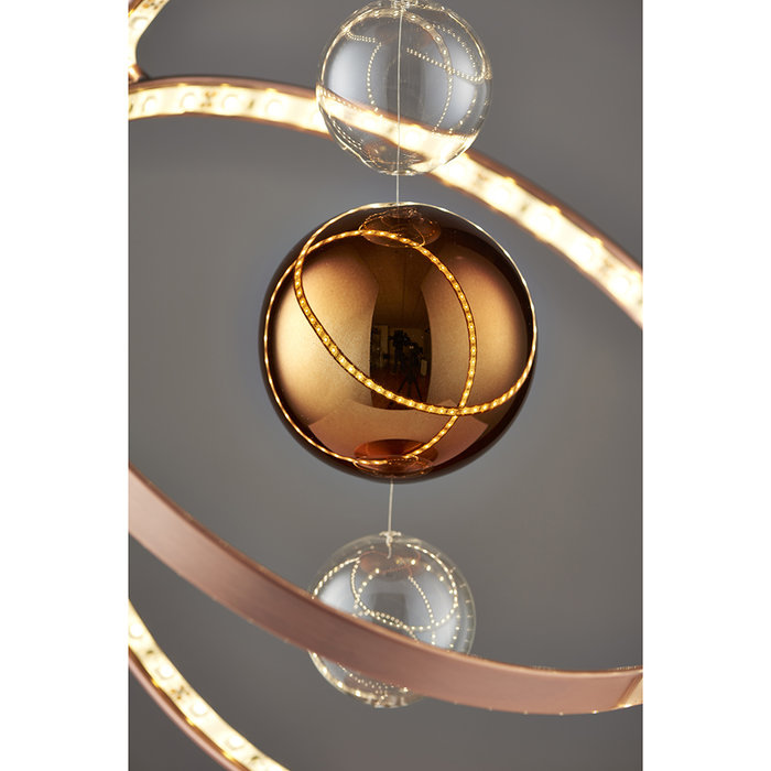 Orbital Table Lamp - LED - Brushed Copper