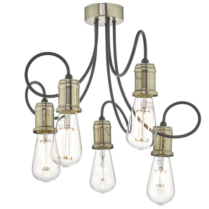 Oren - Floating Industrial Cable Semi Flush Ceiling Light