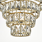 Carys -  Tiered Glass Chandelier - Warm Gold