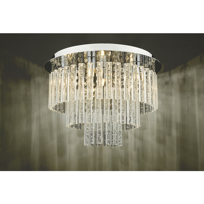 Paolo - Tiered Bubble Flush Statement Light  - IP44