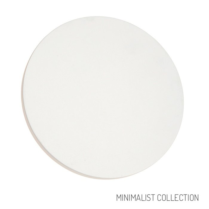 Noe - Minimalist White Plaster Disc Wall Light - Large