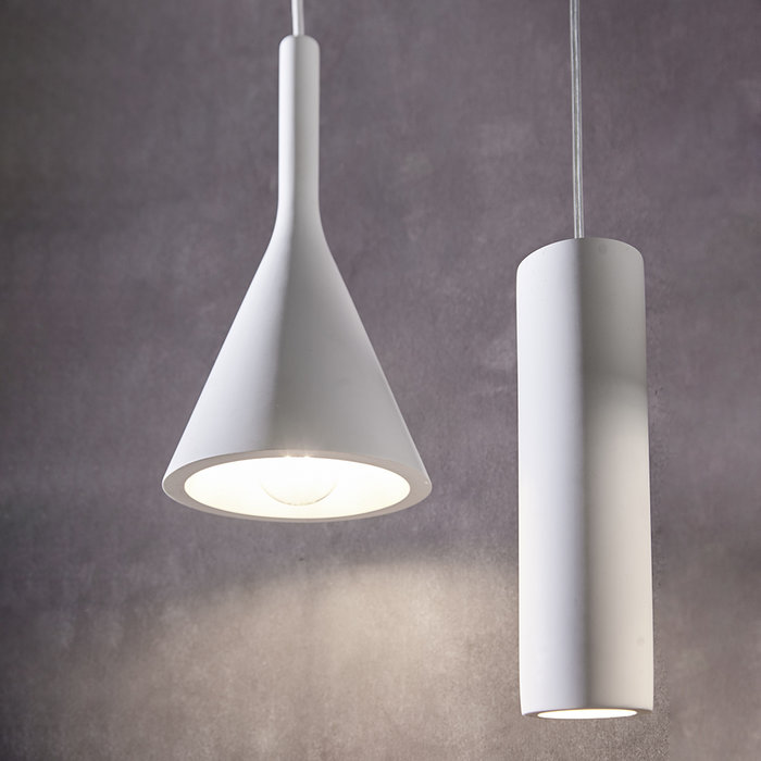 Xander - White Plaster Minimalist Pendant