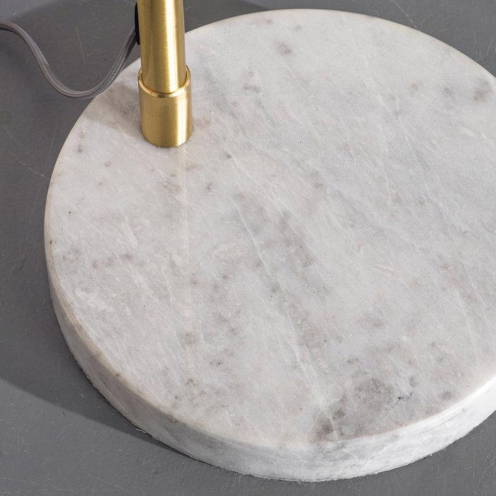 Dot - Mid Century White Marble & Opal Floor lamp