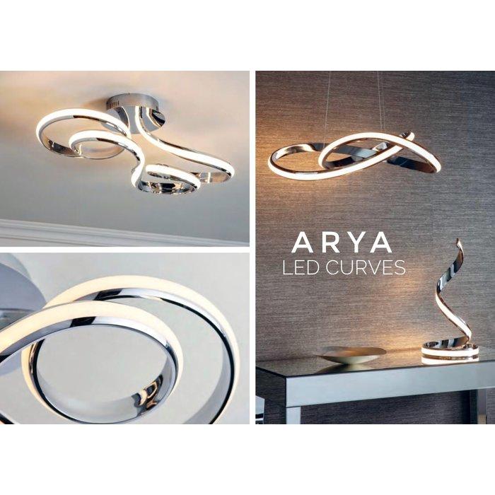 Arya - Spiral LED Floor Lamp - Polished Chrome