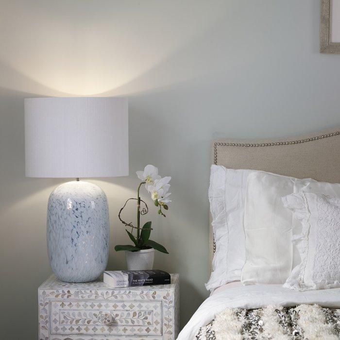Pura White Mirrored Table Lamp