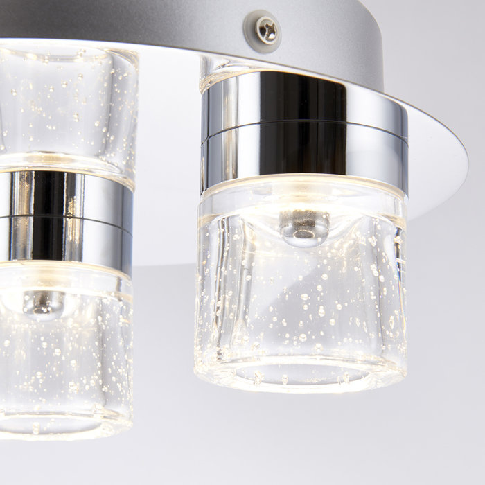 Small LED Bubbles Bathroom Fitting - Polished Chrome