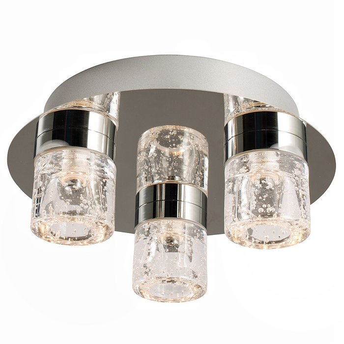 Small LED Bubbles Bathroom Fitting - Polished Chrome