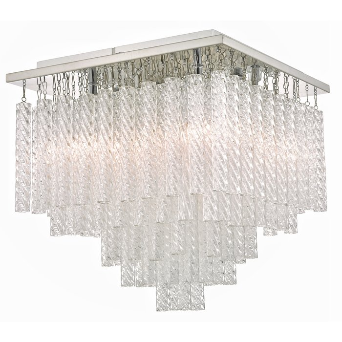 Izumi - Flush Textured Glass Bathroom Ceiling Light - IP44