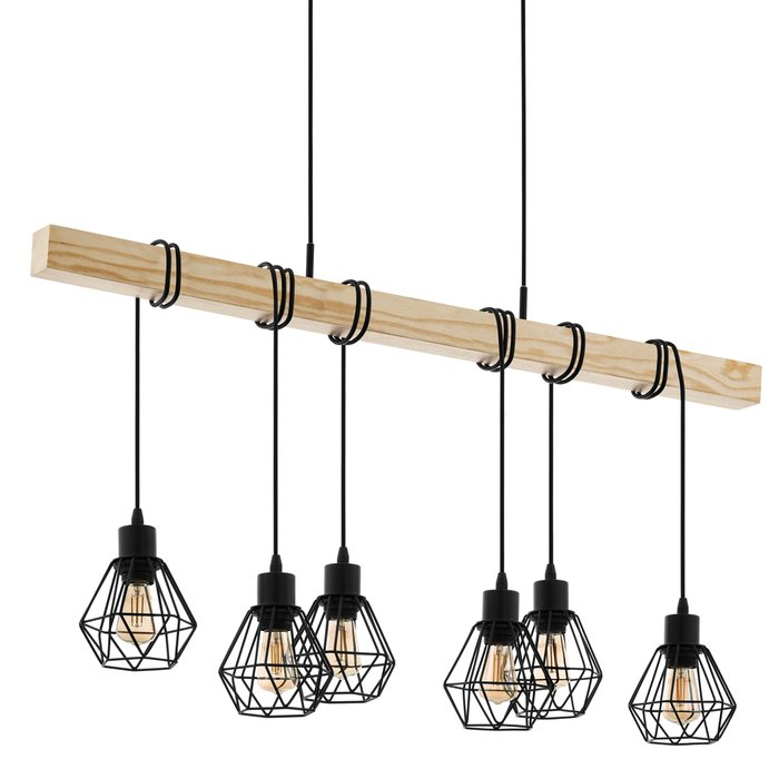 Townsend - Wood Beam Cage Feature Bar Pendant