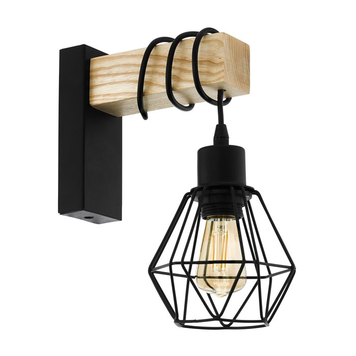 Townsend - Wood Beam Industrial Wall Light