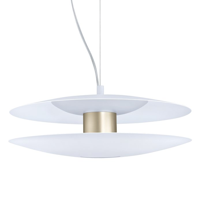 Axel - Scandi Feature Pendant - White & Champagne