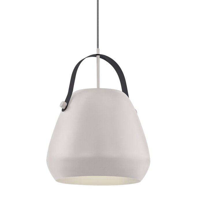 Anders - Grey Scandi Pendant with Dark Grey Bracket