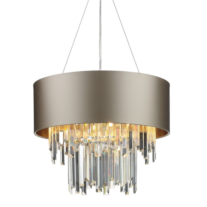 Hurley - Modern Art Deco Crystal Drum Statement Light