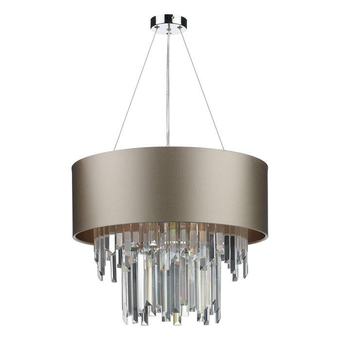 Hurley - Modern Art Deco Crystal Drum Statement Light