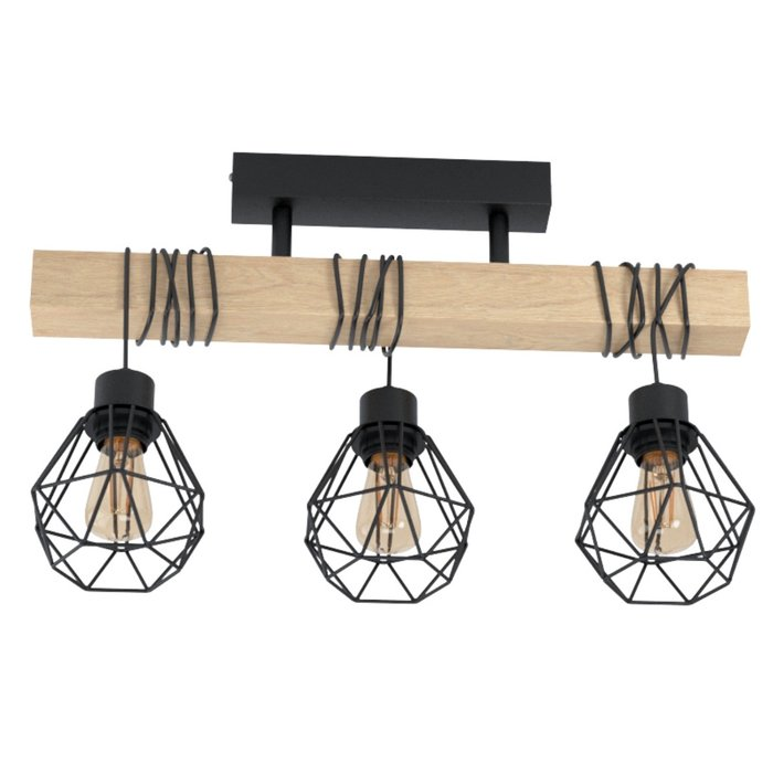 Townsend - Wood Beam Semi-Flush Ceiling Light