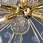 Kayla - Organic Glass Sputnik Feature Light  - Gold