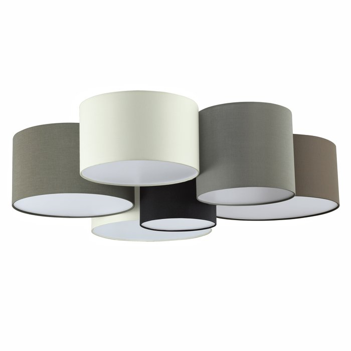 Pastel - Large Fabric Multi-Drum Flush Ceiling Light