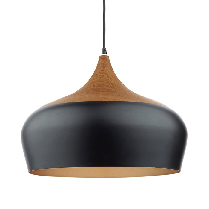 Oversized Matt Black Pendant