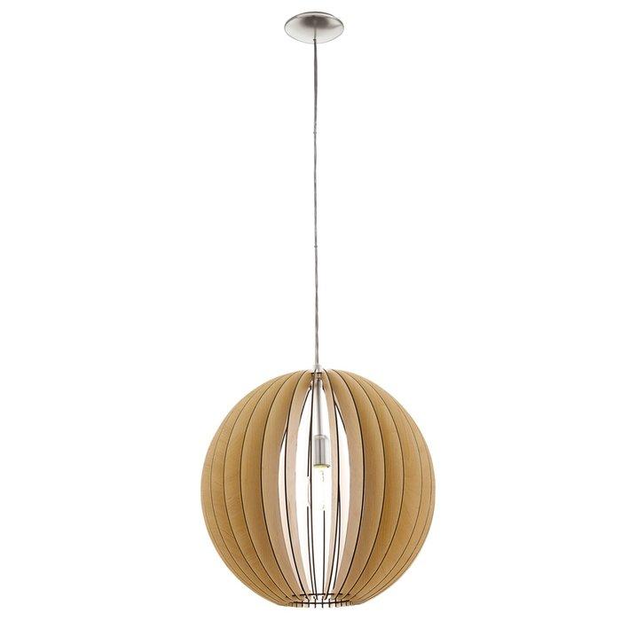 Scandi Maple Wood Pendant - 70cm