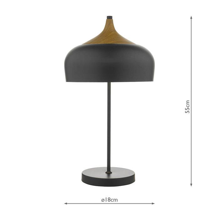 Scandi Matt Black Table Lamp