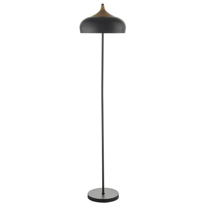 Scandi Matt Black Floor Lamp