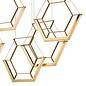 Hexagon - Ultra Modern 3 Light Cluster Pendant - Gold - LED