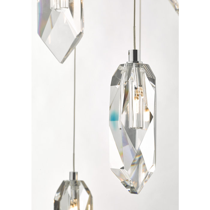 Rock Crystal 12 Light Cluster Pendant
