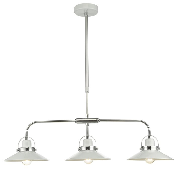 Liden - 3 light White Bar Pendant