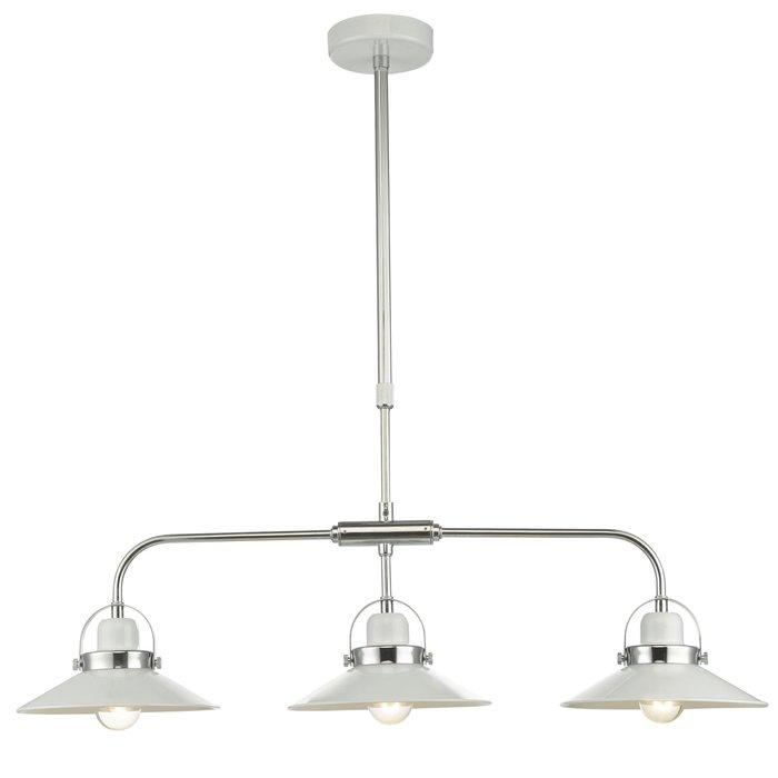 Liden - 3 light White Bar Pendant