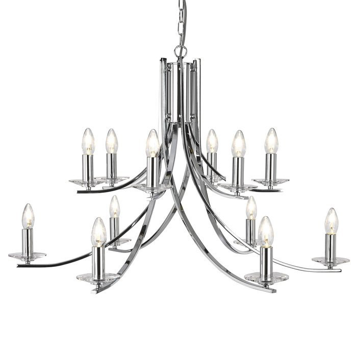 Ascona - 12 Light Chandelier - Polished Chrome