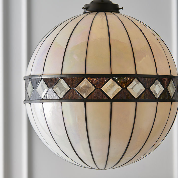 Tiffany Glass Globe Pendant - Large
