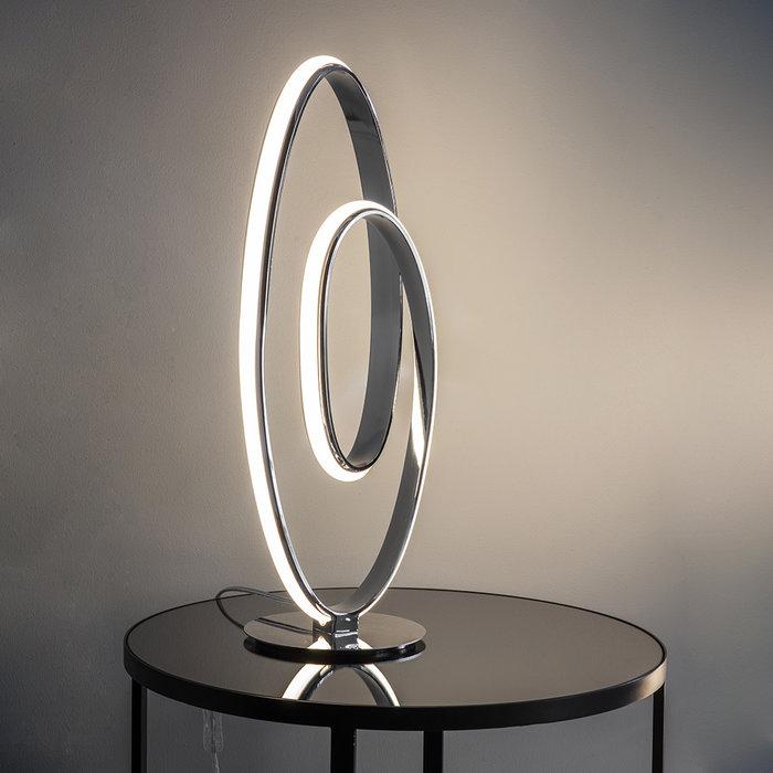 Arya - Large Spiral LED Table Lamp - Polished Chrome